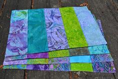 Sew Fresh Quilts: Bindingless Quilted Placemats - A Tutorial