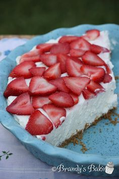 strawberry cream pie - use a nut crust in place of graham cracker crust