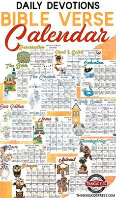 Daily Devotions for Kids | 12-Month Bible Verse Calendar