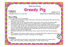 GREEDY PIG is an exciting game that can be used to introduce the topic of probability. In this game, the teacher rolls a die whilst students stand and accumulate points. They can choose when to sit down and lock in their total points, but the catch is that if the teacher rolls a 6, the students who are still standing will lose all of their points. This game can trigger interesting discussion about chance, strategy and greed. Stage 4: Statistics and Probability – Probability 1, MA4-3WM…