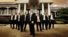 Groom and His Groomsmen at Bluegrass Yacht & Country Club | The Pink Bride® www.thepinkbride.com