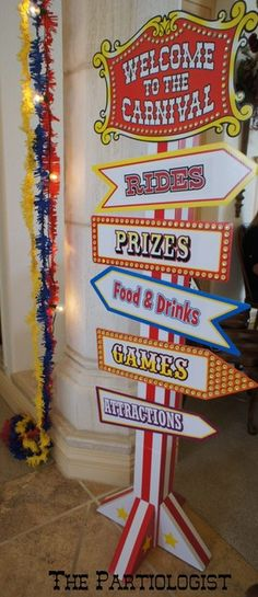 """Under The Big Top""  Party carnival sign"