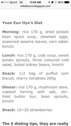 SNSD Diet Plan | Kpop Diet | Pinterest | Diet, Diet plans ...