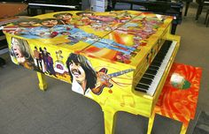 Living Color — The Beatles Hand Painted Piano