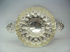 Large Embossed Sterling Solid Silver Bowl, London 1909