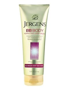 BODY LOTION Last year we named it a Breakthrough; this year Jergens BB Body Perfecting Skin Cream is simply the best: a lightly tinted lotion that airbrushes skin. Best Beauty Tips, Natural Beauty Tips, Beauty Tricks, Beauty Ideas, Beauty Hacks Nails, Body Makeup, Makeup Style, Body Lotions, Skin Cream