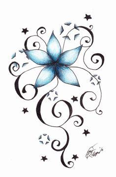 30 Best Star Flower Tattoo Images Cute Tattoos Floral Tattoos