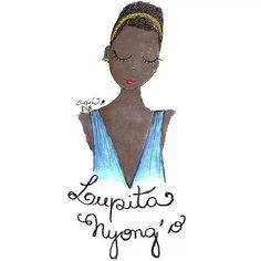 #lupita #lupitanyongo #oscar2014 #oscars #illustration #ilustração by Carol Dib | Sementinhas Cor-De-Rosa