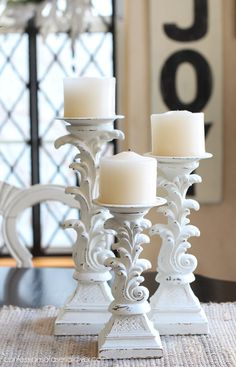 Candlesticks updated with chalk paint from Confessions of a Serial Do-it-Yourselfer