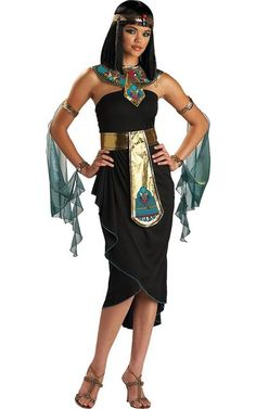 Adult Cleopatra Black Costume-Party City. Idea to merge