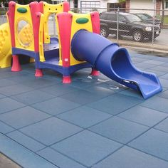 Rubber playground mats with easy installation Outside Playground, Playground Mats, Kids Backyard Playground, Playground Flooring, Playground Ideas, Backyard Ideas, Outdoor Rubber Tiles, Outdoor Flooring, Flooring Ideas