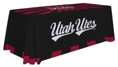 Utah Utes Table Throw - Design C. Visit SportsFansPlus.com for details.