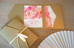 Watercolor Hochzeitseinladung                              …