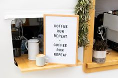 Nothing beats a new pair of running shoes and some coffee! ☕ Don't forget to add a dash of positive vibes! Brooks Running | Runspiration Run Repeat, Positive Vibes, Fitness Inspiration, Letter Board, Positivity, Coffee, Instagram, Beats, Running Shoes