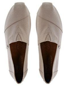 Toms – Classic – Klassische, flache Schuhe in Hellgrau