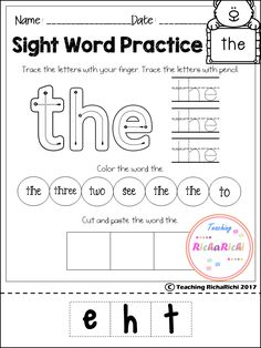 FREE sight word activities pages for pre primer. Inside you will find 40 pages of sight word activities according to dolch sight word list.  if you like it make sure to checkout the full version and my other kindergarten products.