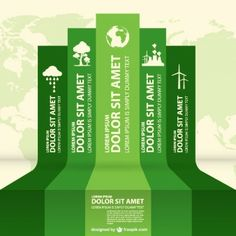 Eco infography labels design