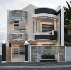 modern house front design ideas exterior wall decoration trends 2019 is part of House design - Classic House Design, Bungalow House Design, Modern House Design, Modern House Facades, Modern House Plans, Modern Houses, Front Wall Design, Architectural House Plans, Dream House Exterior