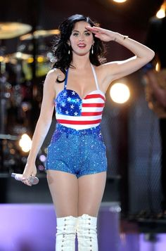 The Definitive Collection Of Famous Women In Patriotic Bikinis And Clothes - Katy Perry