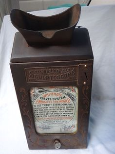 Antique Whitings Sculptoscope Mutoscope Stereoviewer Card Penny Coin Op Machine | eBay
