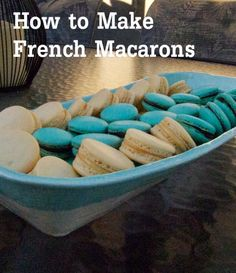 french macaron recipe~ *SIGH* I want to try making ! so in love with French macarons Profiteroles, Eclairs, French Macaroon Recipes, French Macaroons, Yummy Treats, Delicious Desserts, Yummy Food, Sweet Treats, Cookie Desserts