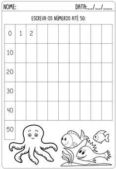 Criar Recriar Ensinar Kindergarten Math Worksheets, School Worksheets, Addition And Subtraction Practice, Tracing Letters, Activities For Kids, Homeschool, Education, Tic Tac, Class Activities