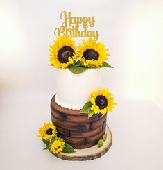 Sunflower Themed Birthday 🌻 #candytable #backdrop #balloongarland #cakestands #cake #backdrop #partyrentals #sunflower Sunflower Party, Candy Table, Balloon Garland, Backdrops, Birthday Cake, Desserts, Food, Tailgate Desserts, Birthday Cakes