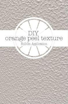 How To Diy Orange Peel Texture On Drywall Orange Peel