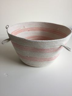 Reversible Round Rope Bowl Large storage solution. Statement piece. Fruit Bowl. Yarn Balls by RunningWithHandmade on Etsy