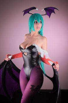 Morrigan from DarkStalkers cosplay!