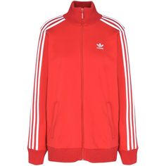 Adidas Originals Sweatshirt (390 RON) ❤ liked on Polyvore featuring tops, hoodies, sweatshirts, red, logo sweatshirts, red top, adidas originals sweatshirt, turtleneck cotton tops and red long sleeve top