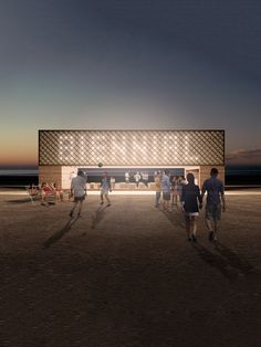 Image 13 of 27 from gallery of Chicago Architecture Biennial Announces Lakefront Kiosk Winners. Courtesy of The Chicago Architecture Biennial Win Competitions, Design Competitions, Dulwich Picture Gallery, Timber Battens, Pavilion Design, Architect Magazine, Kiosk Design, Pavilion Architecture, Venice Biennale