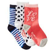 Add a little love to her outfits with these sweet socks.<br>