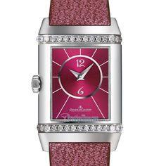 25884LC Scarababe Pink Christian Louboutin Jaeger LeCoultre Reverso Classic Duetto Manual Wind Ladies Watch Jaeger Lecoultre Reverso, Jaeger Lecoultre Watches, Gifts For Wife, Manual, Christian Louboutin, Lady, Classic, Pink, Derby