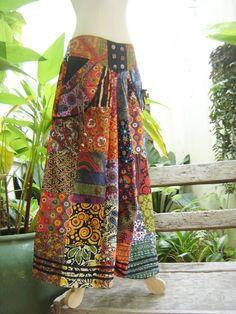 patchwork boho gyspy pants