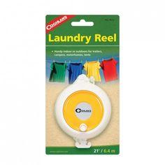 De #Coghlan's Laundry Reel #waslijn heeft een stevige draad die uit te rollen is. Makkelijk mee te nemen.