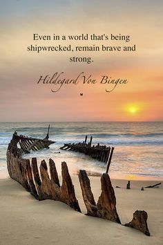 Even in a world that's being shipwrecked, remain brave and strong.  ♡ HILDEGARD VON BINGEN
