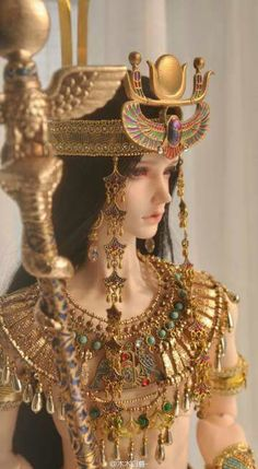 Anime Dolls, Ooak Dolls, Barbie Dolls, Egyptian Goddess, Egyptian Art, Egyptian Fashion, Enchanted Doll, Egyptian Costume, Realistic Dolls