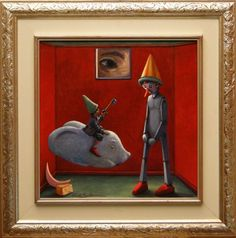 Buy THE KEY - Pinocchio- (framed), Oil painting by Carlo Salomoni on Artfinder. Discover thousands of other original paintings, prints, sculptures and photography from independent artists.