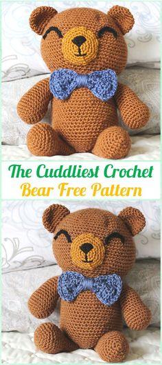 Amigurumi Crochet The Cuddliest Crochet Bear Free Pattern - Amigurumi Crochet Teddy Bear Toys Free Patterns