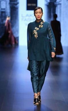 Lakme Fashion Week, Daily Wear, Stylish Outfits, Peplum Dress, High Fashion, Anarkali, Palazzo, How To Wear, Clothes