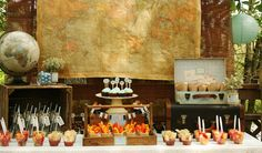 Style Your Sole Guest Dessert Feature. I had the same idea! Putting a large vintage map in the background!