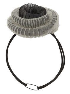 'Confection' Sculptural Pleated Crinoline Headpiece/Fascinator