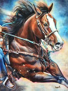 Horse in Motion Barrel turn