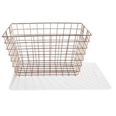 Wire Storage Basket - Copper