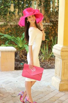 Derby hats are the best hats, especially when they're hot pink and made of organza.