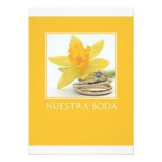 yellow wedding invitation spanish
