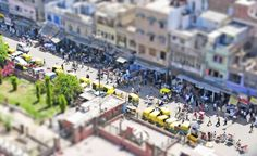 Tuk tuks from my travels to New Delhi, India. Great subject for tiltshift photography!