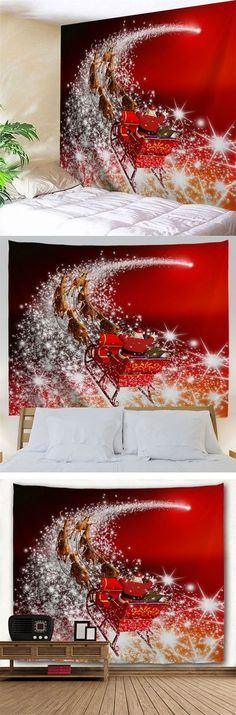 Christmas Sled Print Wall Tapestry