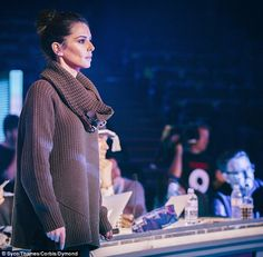 Not looking good: Cheryl Fernandez-Versini cut a concerned figure as she joined her final ...